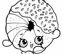 Donut 21 Coloring Page