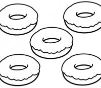 Donut 24 Coloring Page