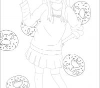 Donut 25 Coloring Page