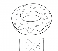 Donut 26 Coloring Page