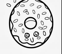 Donut 28 Coloring Page