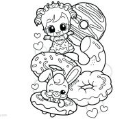 Donut 29 Coloring Page
