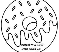 Donut 3 Coloring Page