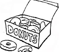 Donut 32 Coloring Page
