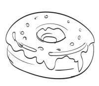 Donut 4 Coloring Page