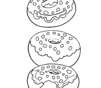 Donut 5 Coloring Page