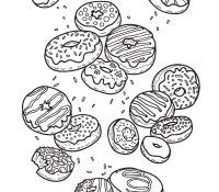 Donut 6 Coloring Page