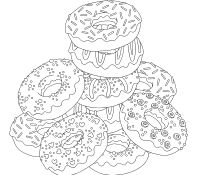 Donut 7 Coloring Page