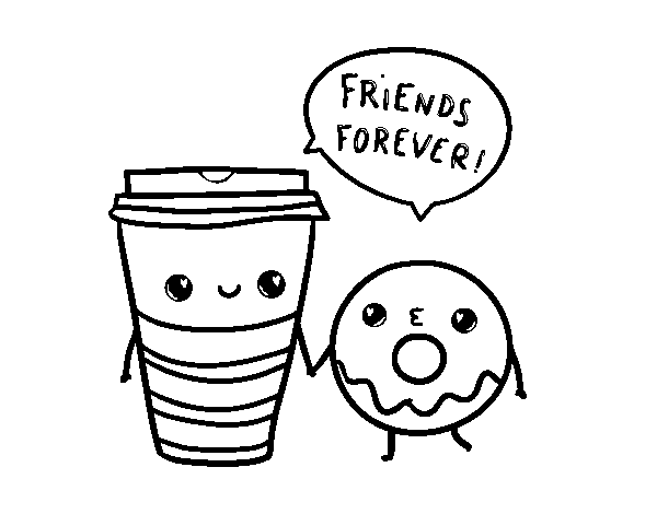 Donut 18 Coloring Page