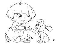 Dora With Puppy
