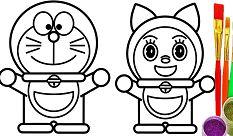 Doraemon And Dorami 1 Coloring Page