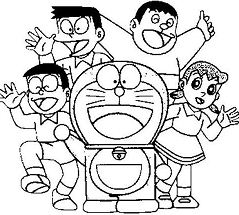 Doraemon And His Friends Coloring Page