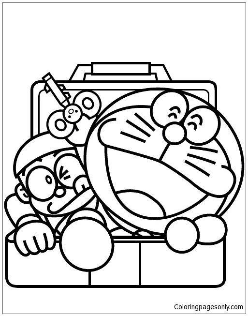 Doraemon And Nobita 1 Coloring Page