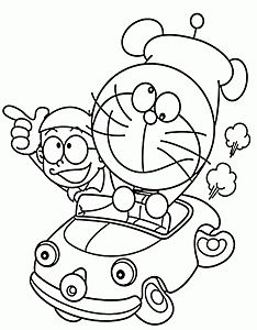 Doraemon and Nobita In Car