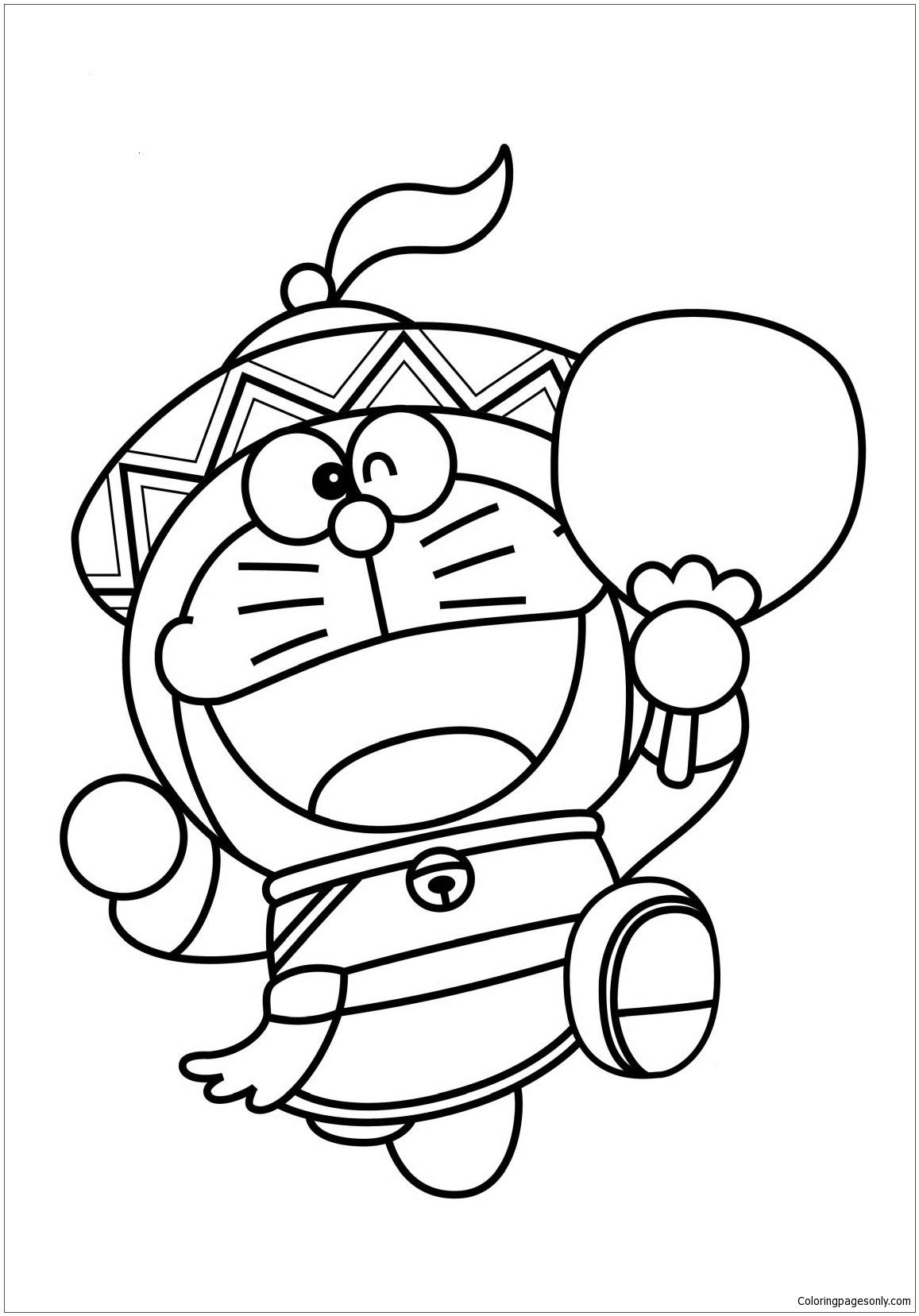 Doraemon As Chinese Coloring Page