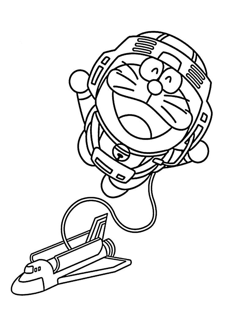Doraemon Astronaut
