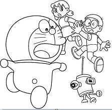 Doraemon Chased By Robot