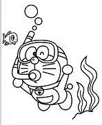 Doraemon Diving
