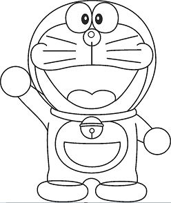 Doraemon Drawing for Kids Coloring Page