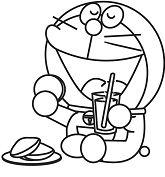 Doraemon Having Lunch