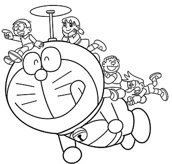 Doraemon Drawing for Kids Coloring Page - Free Coloring