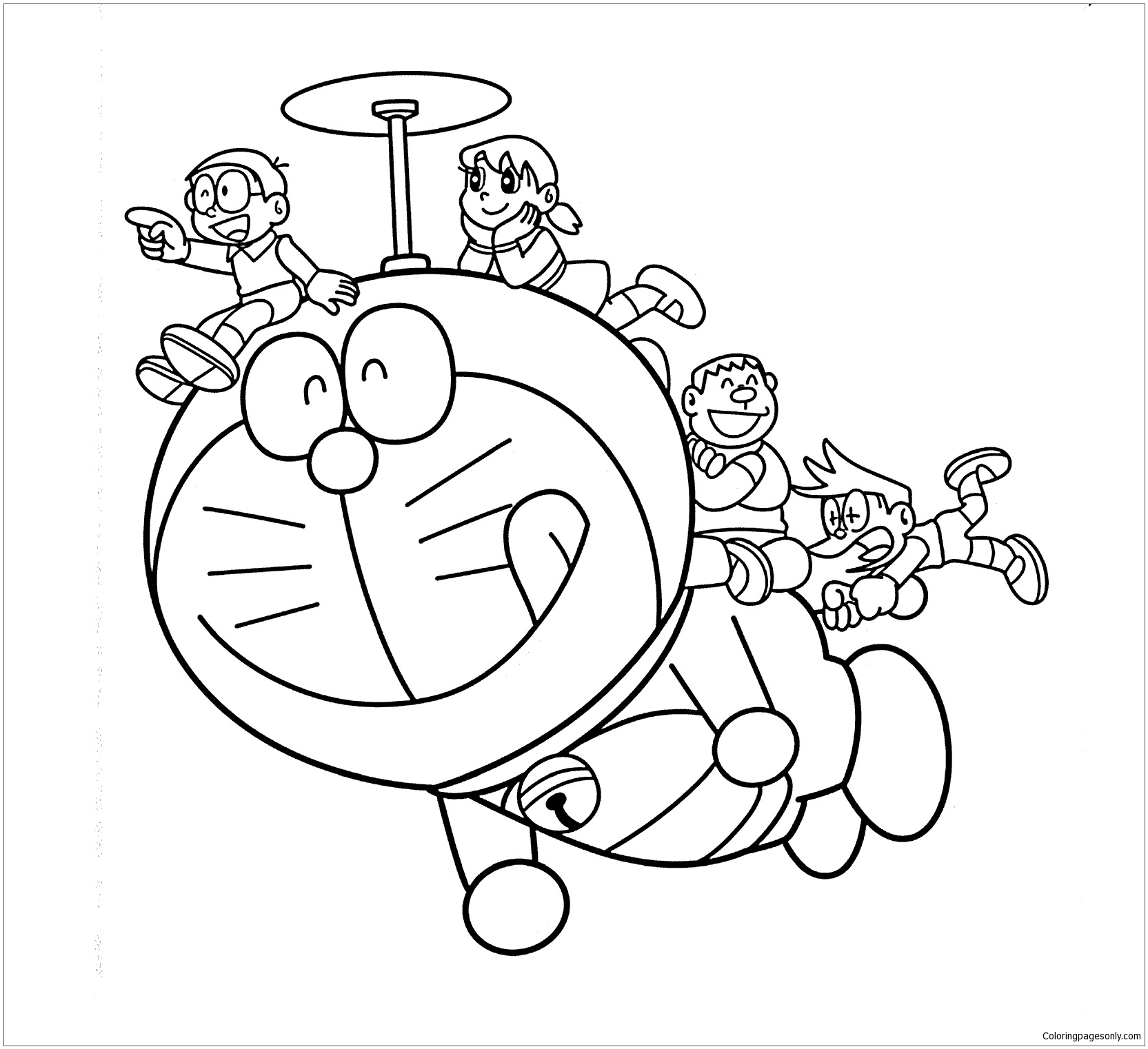 Doraemon Helicopter Coloring Page Free Coloring Pages Online Helicopter Coloring Page