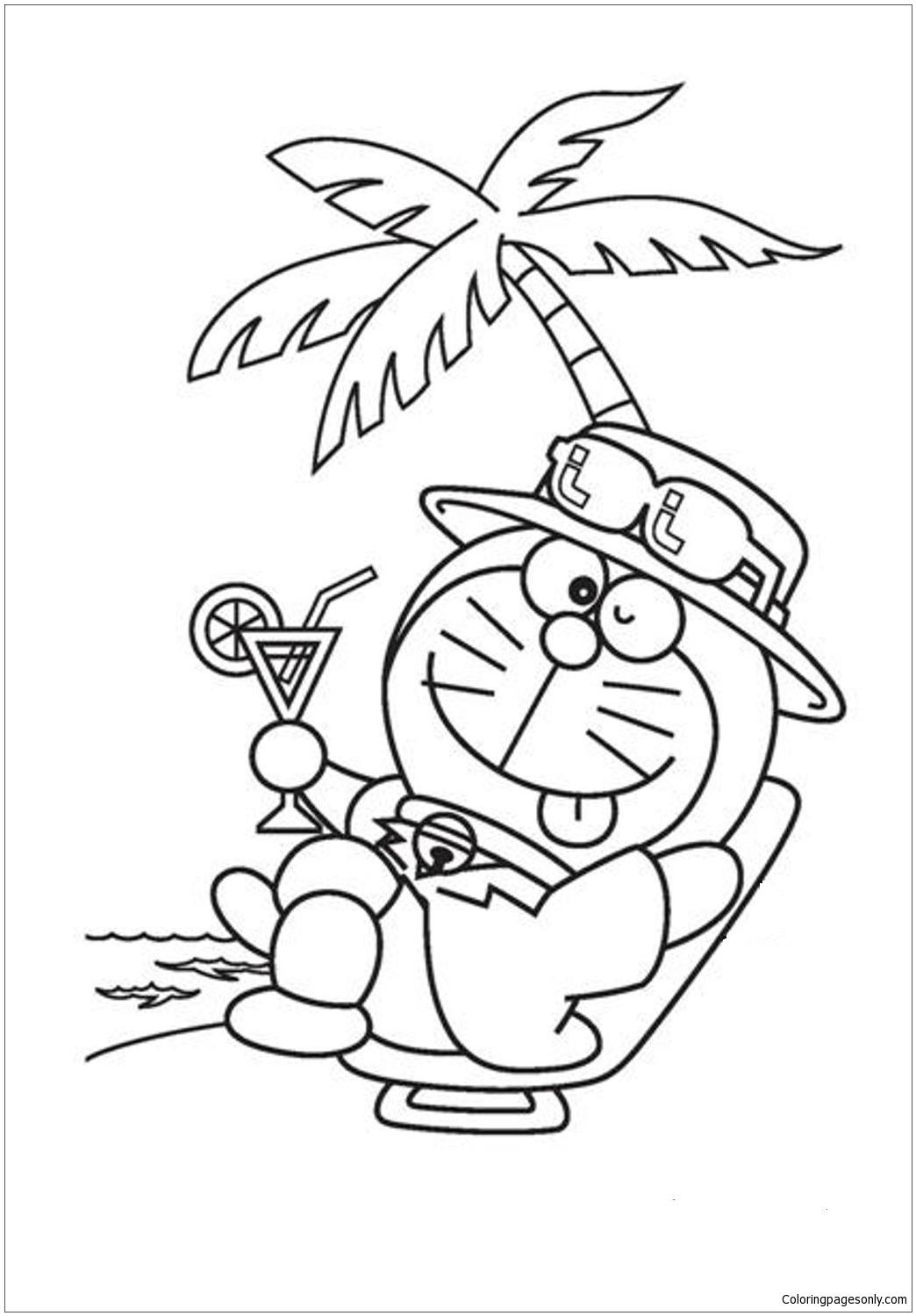 Doraemon In A Chilling Mood Coloring Pages - Doraemon ...