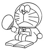 Doraemon Is Reading The Book 1