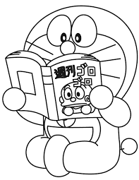 Doraemon Is Reading The Book