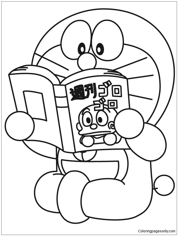 All Characters Doraemon Coloring Page