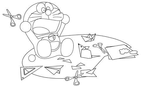 Doraemon learn how to make paper toys