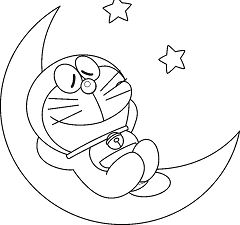 Doraemon On The Moon