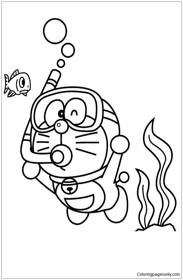 Doraemon On The Sea Coloring Page Free Coloring Pages Online The Sea Coloring Pages