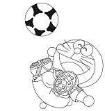 Doraemon Playing Football 1