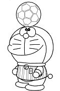 Doraemon Playing Soccer