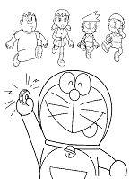Doraemon Pressing Button
