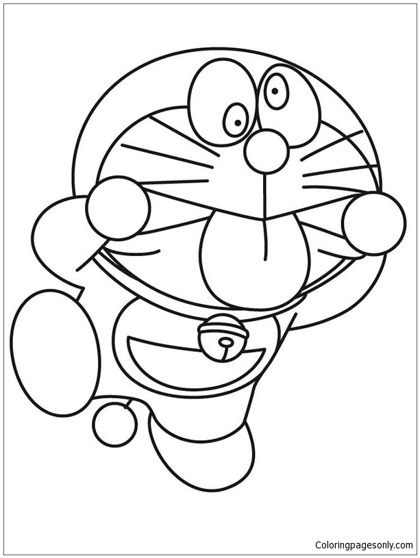Doraemon Silly Faces Coloring Page Free Coloring Pages
