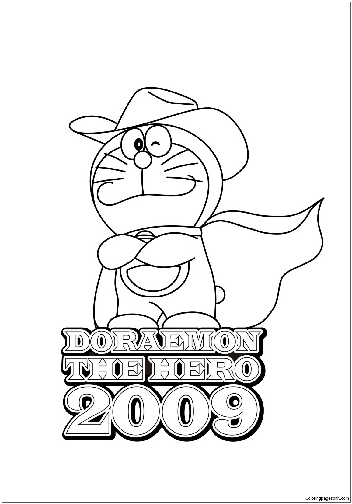 Doraemon The Hero 2009 Coloring Page
