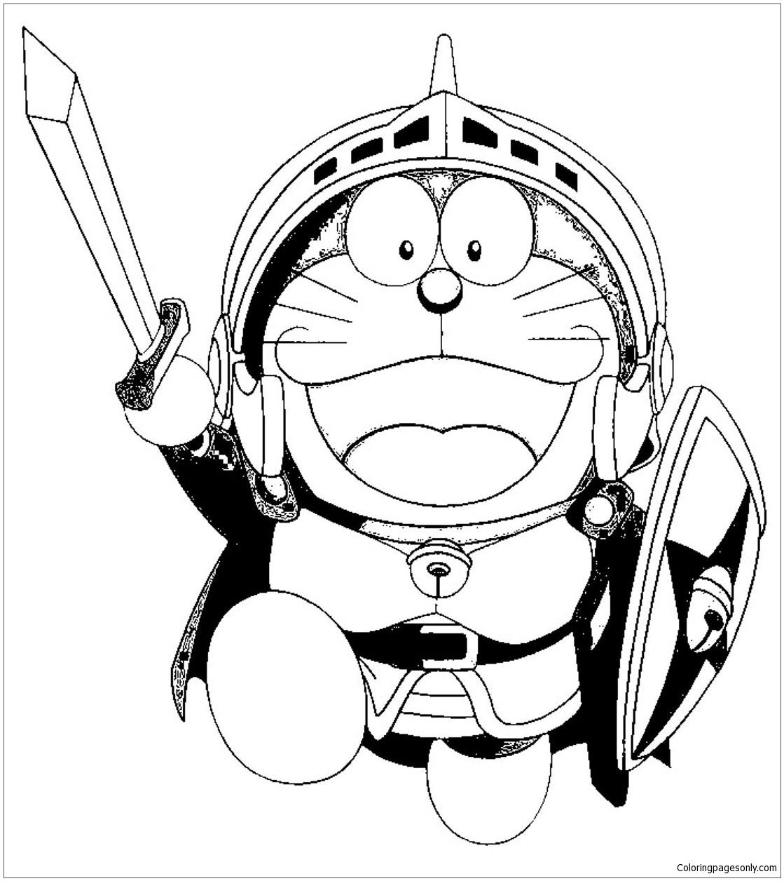 Doraemon Warrior Coloring Page