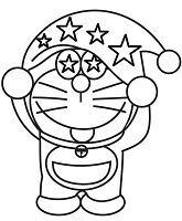 Doraemon Wearing Hat With Stars