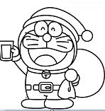 Doraemon Wearing Santa Claus Costume