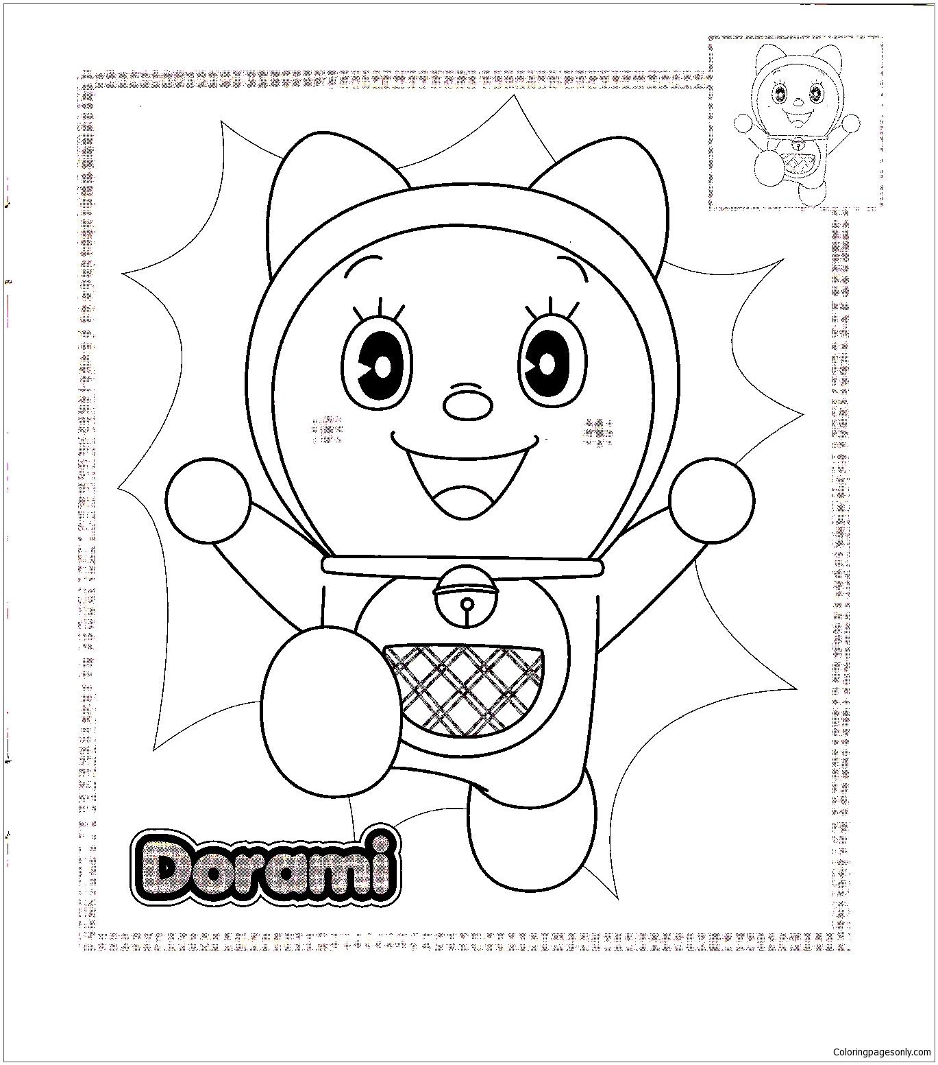 Dorami  Coloring Page