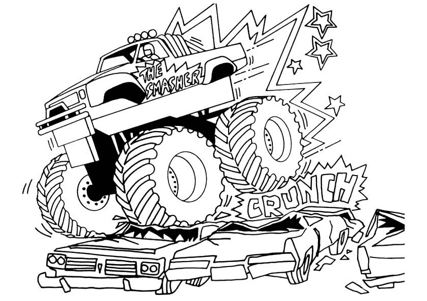 Dragon's Breath Monster Truck Coloring Page