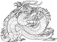 Dragon Chinese Coloring Page
