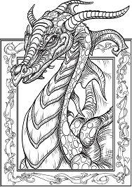 Dragon Head 2 Coloring Page