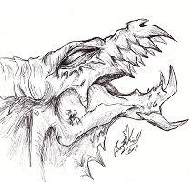 Dragon Head Demon Coloring Page