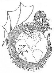 Dragon Of World Mandala