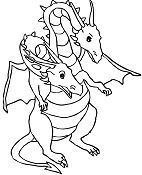 Dragon With 2 Heads Coloring Page