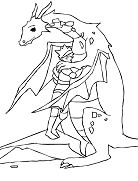 Dragon With Knight