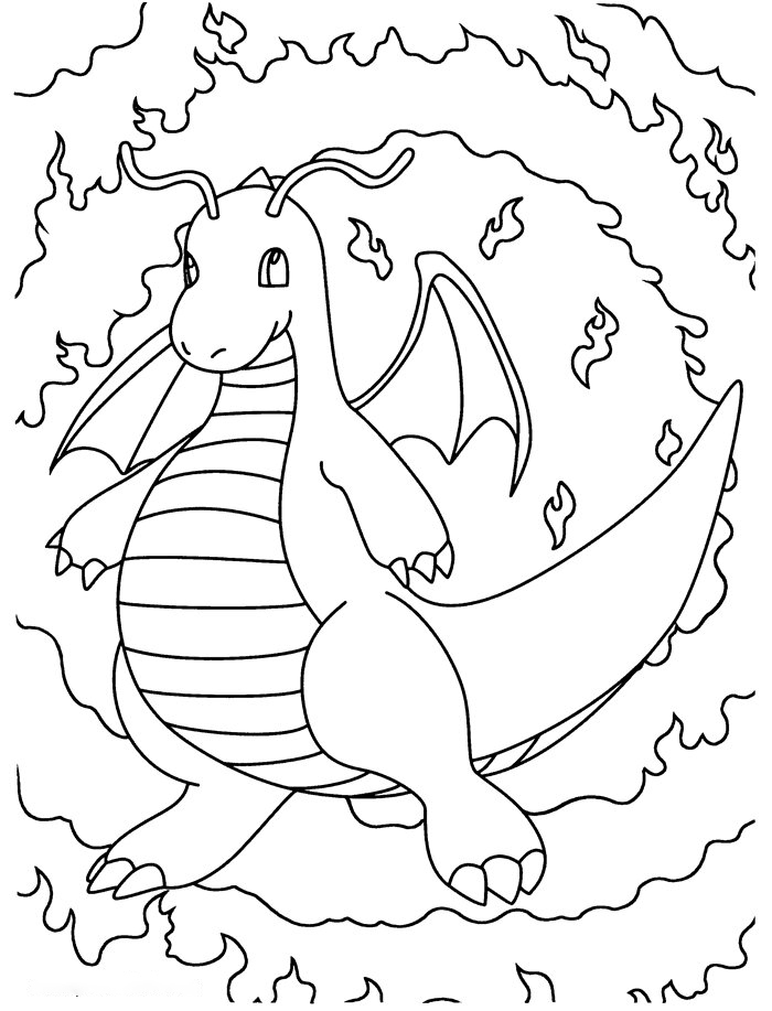 Dragonite Coloring Page